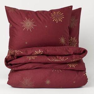 Dark Red King Duvet Cover Set